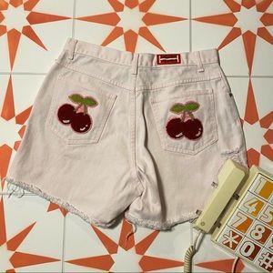 Cherry Butt Patch Vintage Denim Cutoffs